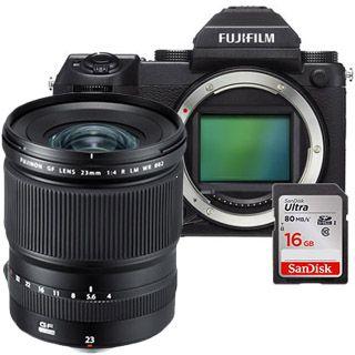 Fujifilm GFX 50S + GF23mm + 16GB SanDisk