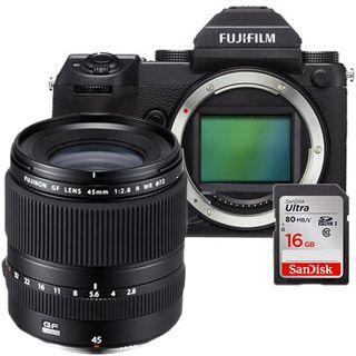 Fujifilm GFX 50S + GF45mm + 16GB SanDisk