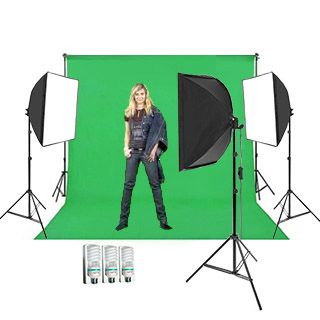 Green Screen Studio Set 2,7 x 5m (3x svetlá Daylight Softbox)